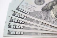 Billetes de dólar Fotos de archivo libres de regalías