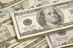Billetes de dólar americanos Fotos de archivo