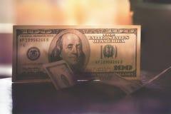100 billetes de dólar de $ Fotografía de archivo libre de regalías