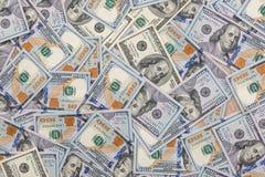 Billetes de dólar del americano ciento del dinero 100 Foto de archivo libre de regalías