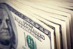 Billetes de dólar del dinero ciento fotos de archivo libres de regalías