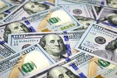 Billetes de dólar del nuevo ciento Imagen de archivo libre de regalías