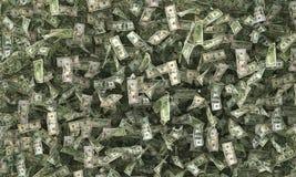 Billetes de dólar en la tierra Fotografía de archivo libre de regalías