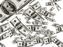 Billetes de dólar que caen stock de ilustración