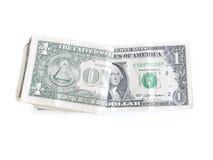 Billetes de dólar uno Fotos de archivo