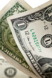 Billetes de dólar uno Imagen de archivo libre de regalías