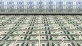 Billetes de dólar del dinero de la impresión nuevos 100 Imagenes de archivo