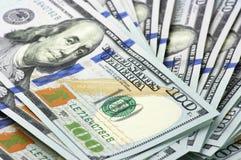 Billetes de dólar del nuevo ciento Fotografía de archivo