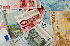 Euro bank notes Royalty Free Stock Photo