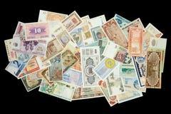 Billetes del mundo fotografía de archivo