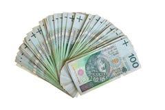 Billetes del zloty polaco Fotos de archivo