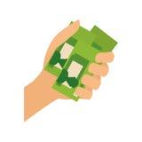 Billetes a disposición Imagen de archivo libre de regalías