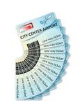 Billets d'autobus de centre de la ville à l'aéroport et au retour - ima de concept Images libres de droits