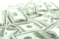 100 billets d'un dollar Image libre de droits
