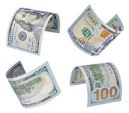 100 billets d'un dollar Images libres de droits
