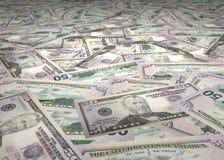 50 billets d'un dollar Image libre de droits