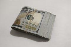 100 billets d'un dollar Image stock