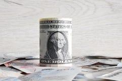 Billets d'un dollar américains d'argent Images stock