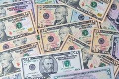 Billets d'un dollar américains des Etats-Unis Photos stock