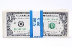 Billets d'un dollar attachés Images stock