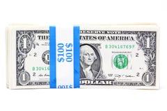 Billets d'un dollar attachés Image libre de droits