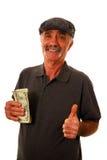 Billets d'un dollar de fixation d'homme photos stock