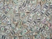 Billets d'un dollar empilés Image stock
