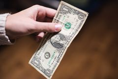 Billets d'un dollar, fond d'argent Dollars d'argent de fin d'ensemble  Images stock