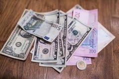Billets d'un dollar, fond d'argent Dollars d'argent de fin d'ensemble  Images libres de droits