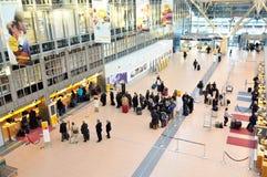Billets de achat à l'aéroport Hambourg Images stock
