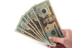 Billets de banque à disposition Photo stock