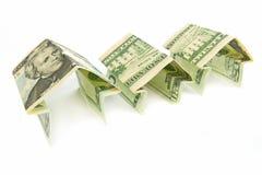 Billets de banque à la maison neufs Image stock