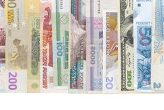 Billets de banque assortis du monde Photo libre de droits