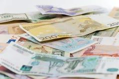 Billets de banque assortis du monde Photographie stock