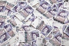 Billets de banque BRITANNIQUES d'argent Photo stock