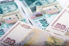 Billets de banque bulgares d'argent Image libre de droits