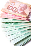 Billets de banque canadiens Photos libres de droits