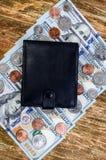 Billets de banque cent dollars, cents et bourses Image stock