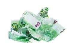 Billets de banque chiffonnés Image stock
