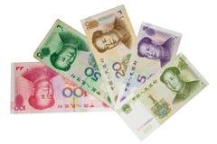 Billets de banque chinois Photo libre de droits