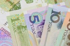 Billets de banque chinois de yuans (renminbi) pour l'argent et le conce d'affaires Images stock