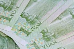 Billets de banque chinois de yuans (renminbi) pour l'argent et le conce d'affaires Photographie stock libre de droits