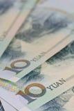 Billets de banque chinois de yuans (renminbi) pour l'argent et le conce d'affaires Photo libre de droits