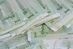 Billets de banque chinois de yuans (renminbi) pour l'argent et le conce d'affaires Image libre de droits