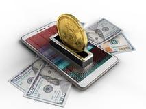 billets de banque 3d Images libres de droits