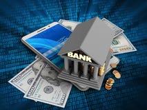 billets de banque 3d illustration libre de droits