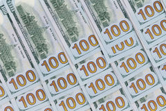 100 billets de banque d'Américain du dollar Images libres de droits