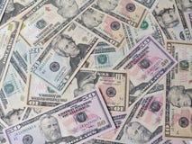 Billets de banque d'Amérique Photo stock