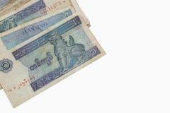 Billets de banque d'argent de Myanmar (Birmanie) vieux et nouveaux de kyat, - (Fin) Image stock