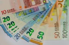 Billets de banque d'argent d'Evro photographie stock libre de droits